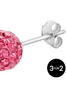 love-silver-sterling-silver-crystal-glitterball-studs-6mm