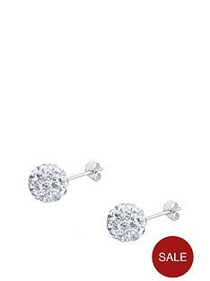 the-love-silver-collection-sterling-silver-crystal-glitterball-studs-8mm