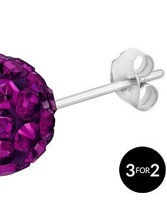 love-silver-sterling-silver-crystal-glitterball-studs-8mm
