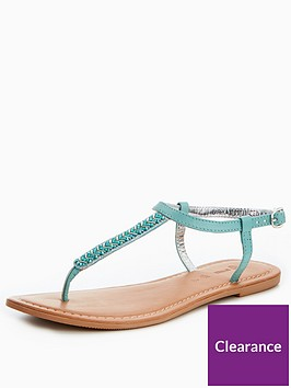 v-by-very-melodie-leather-embellished-toepost-sandal-turquoise