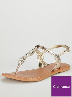 v-by-very-twist-embellished-flat-sandal-gold