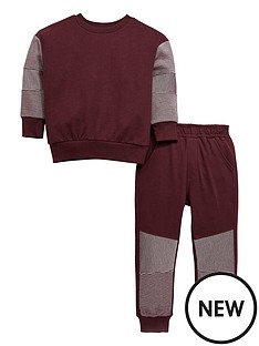 mini-v-by-very-boys-horizontal-ribbed-sweat-and-jogger-outfit