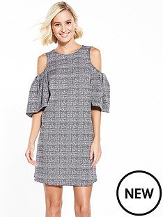 river-island-check-cold-shoulder-dress
