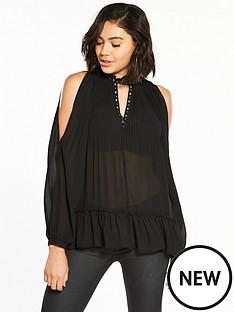 river-island-black-cold-shoulder-blouse
