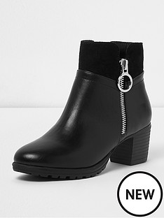 river-island-flat-boot-circle-zip-side