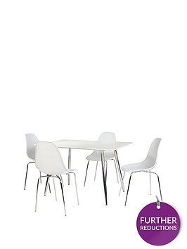 ideal-home-san-fran-120-cm-dining-table-4-chairs-white