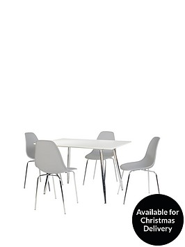 ideal-home-san-fran-120-cm-dining-table-4-chairs-greywhite