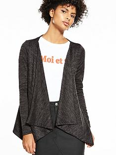 v-by-very-brushed-waterfall-cardigan-black