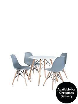 paris-80-cm-round-dining-table-4-chairs-greywhite