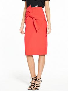 river-island-red-bow-pencil-skirt