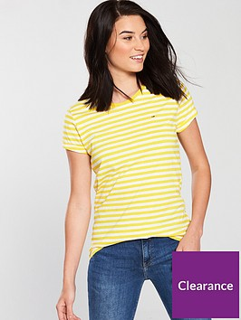 tommy-jeans-linen-blend-stripe-logo-t-shirt-dandelion-yellow