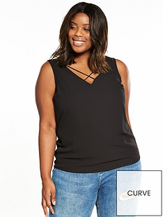 v-by-very-curve-cross-neck-cami