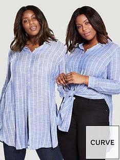 v-by-very-curve-2-way-stripe-knot-front-longline-shirt