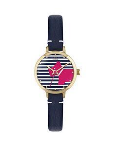 radley-radley-navy-leather-strap-watch-with-striped-dog-dial