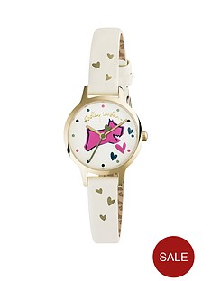 radley-radley-cream-leather-strap-watch-with-printed-dog-dial-detail