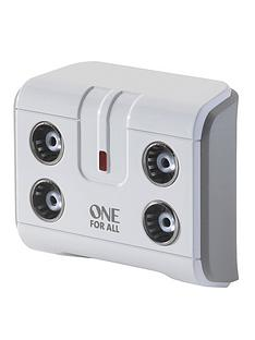 one-for-all-sv9604-4-way-signal-booster-splitter