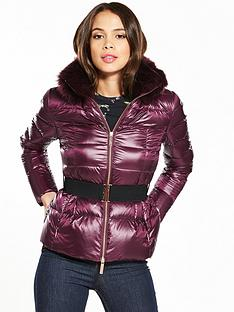 ted-baker-junnie-faux-fur-collar-down-jacket