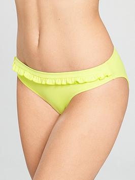 pour-moi-getaway-frill-bikini-brief-yellow