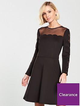 ted-baker-kikoh-mesh-panelled-skater-dress