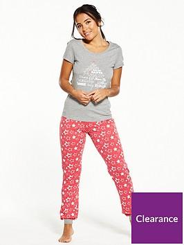 v-by-very-christmas-star-print-short-sleeve-pyjamas