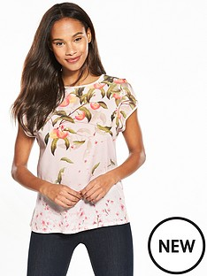 ted-baker-ted-baker-roozie-peach-blossom-woven-front-tee