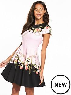 ted-baker-antana-peach-blossom-jersey-skater-dress