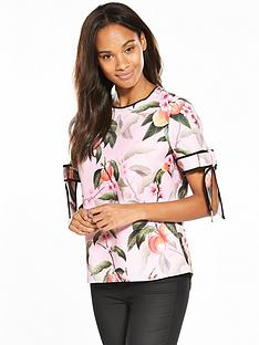 ted-baker-ted-baker-cathe-peach-blossom-bow-cuff-top