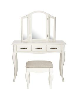 Olivia Dressing Table, Mirror and Stool Set | littlewoods.com
