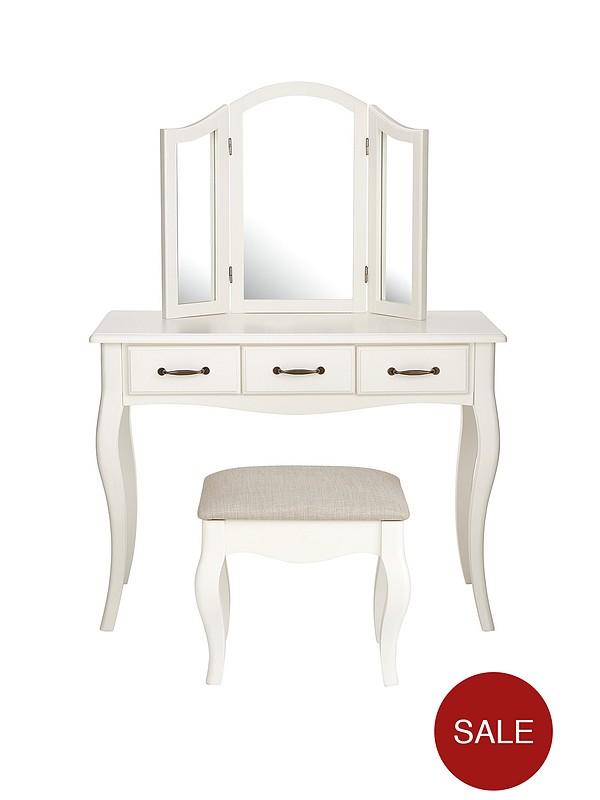 separation shoes 366d0 41c42 Olivia Dressing Table, Mirror and Stool Set