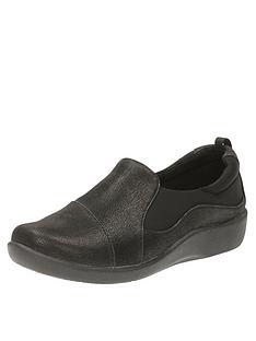 357b0d2de3c Clarks Sillian Paz Wide Fit Slip On Shoe - Black