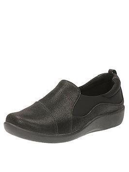 936b584ef0e00 Clarks Sillian Paz Wide Fit Slip On Shoe - Black