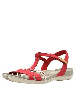 clarks-tealite-grace-flat-sandal-red