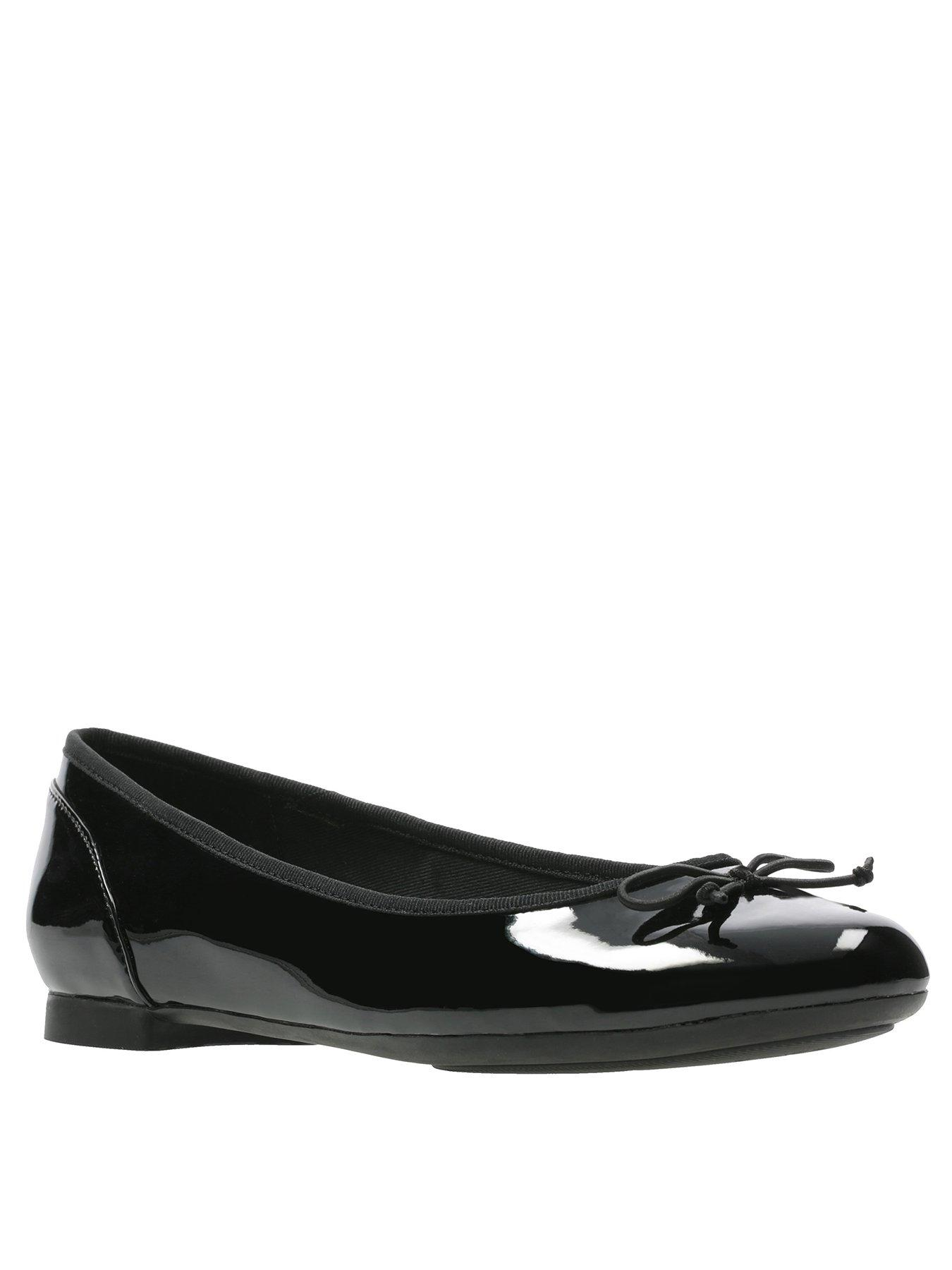 Clarks Couture Bloom Ballerina - Black Patent