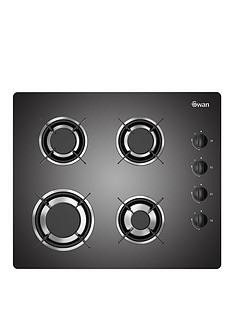 swan-sxb7040b-60cm-built-in-gas-black-glass-hob-black-with-next-day-delivery