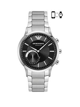 Emporio Armani Emporio Armani Connected Silver Stainless Steel Hybrid  ... Picture