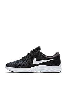 aeb2552d1324 Nike Revolution 4 Junior Trainer - Black Grey White