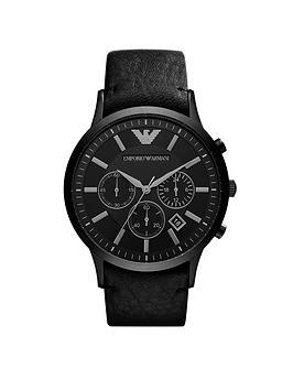 Emporio Armani Emporio Armani Ar2461 Black Chronograph Dial Black Leather  ... Picture