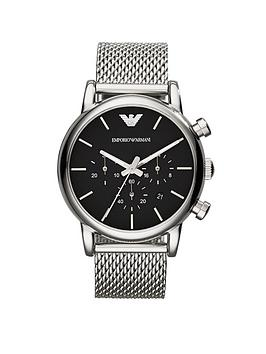 Emporio Armani Emporio Armani Stainless Steel Mesh Bracelet Gents Watch Picture