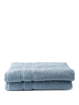 Silentnight Silentnight Set Of 2 Zero Twist Bath Towels Picture