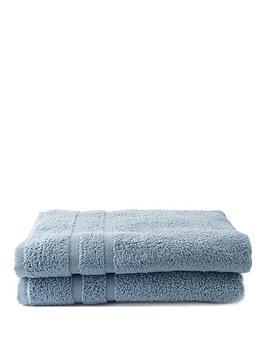 Silentnight Silentnight Zero Twist Pack 2 Bath Sheets Picture