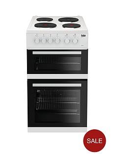 beko-kd533aw-50cm-twin-cavity-electric-cooker-white
