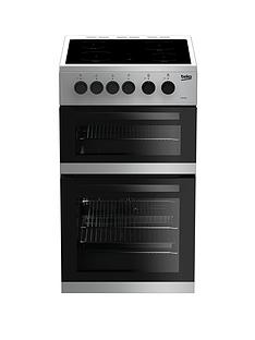 beko-kdc5422as-50cm-twin-cavity-electric-cooker-silver