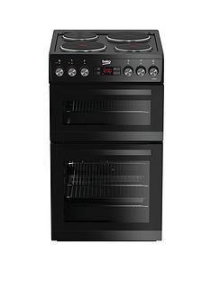 beko-kdv555ak-50cm-double-oven-electric-cooker-black