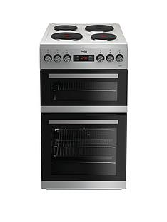 beko-kdv555as-50cm-double-oven-electric-cooker-silver