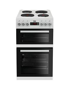 beko-kdv555aw-50cm-double-oven-electric-cooker-white-with-connection