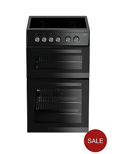 beko-kdvc563ak-50cm-double-oven-electric-cooker-black