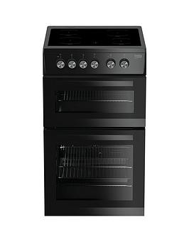Beko Beko Kdvc563Ak 50Cm Double Oven Electric Cooker - Black Picture