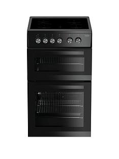 beko-kdvc563ak-50cm-double-oven-electric-cooker-black-with-connection