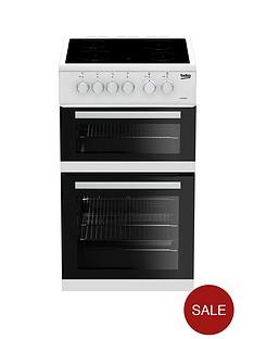 beko-kdc5422aw-50cm-twin-cavity-electric-cooker-white