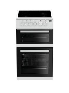 beko-kdc5422aw-50cm-twin-cavity-electric-cooker-white-with-connection